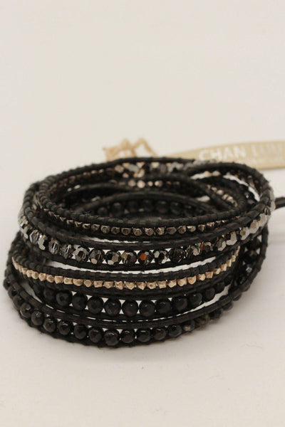 Chan Luu Black Leather Wrap Bracelet BS-4622 - Inspire Me