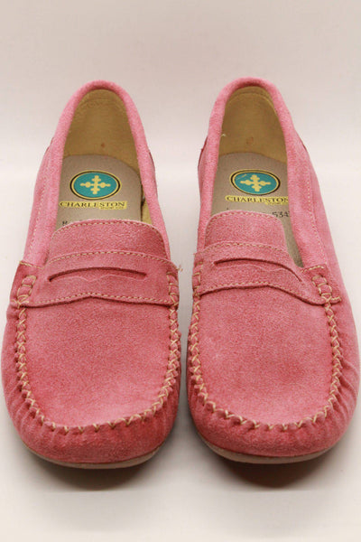 Charleston Shoe Company Suede Loafer Coral Murray - Inspire Me