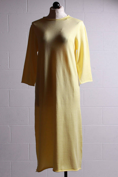 Compania Fantastica Long Knit Dress Yellow SP20DEJ01 - Inspire Me
