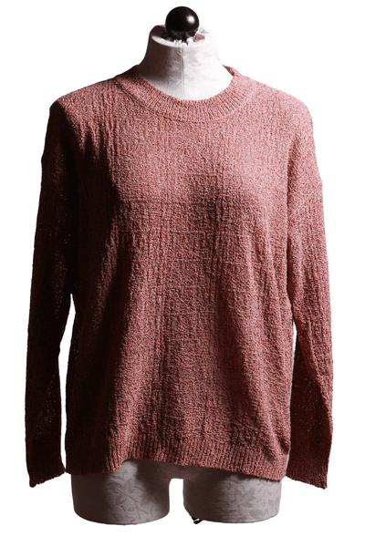 Brown Textured pullover sweater