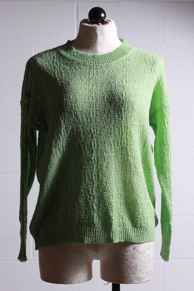 Compania Fantastica Textured Pullover Sweater Green SP20CHU12 - Inspire Me