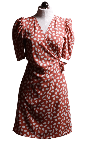 Compania Fantastica Leaf Print Wrap Dress  SP20SHE10 - Inspire Me