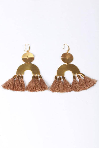 David Aubrey Statement Earring Taupe TYDE40 - Inspire Me