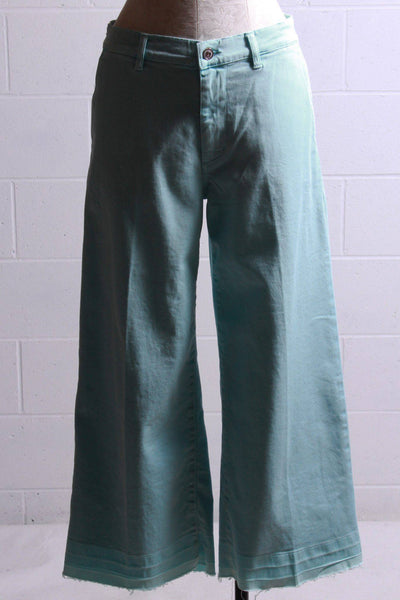 European Culture Wide Leg Cropped Jean Aqua 05BU3881 - Inspire Me