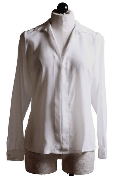 European Culture Sheer Blouse White 65306668 - Inspire Me