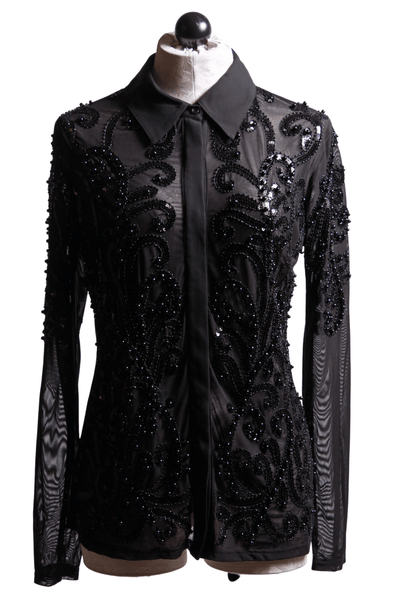 Frank Lyman Beaded Blouse Black 203102U - Inspire Me