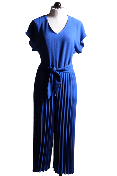 Frank Lyman Pleated Leg Jumpsuit Royal Blue 201237 - Inspire Me