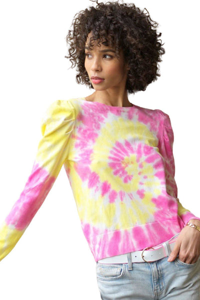 GENERATION LOVE FELICITY TIE DYE TOP YELLOW MAGENTA SP20412 - Inspire Me