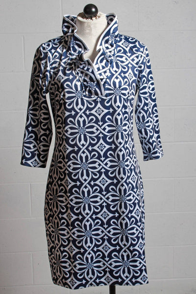 Gretchen Scott Piazza Dress Navy JDRNPZ - Inspire Me