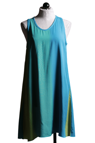 Iguana Shift Dress Turquoise Ombre G4045 - Inspire Me