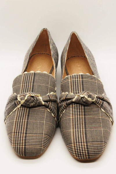 Jack Rogers Holly Plaid Loafer Midnight Tan - Inspire Me