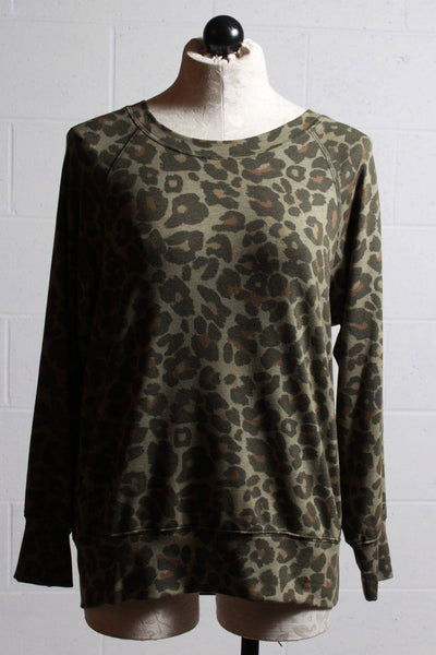 Nally and Millie Leopard Print Sweatshirt - Inspire Me