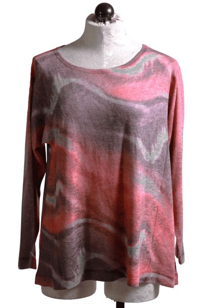Nally and Millie Tie Dye Top Red Multi N282410T - Inspire Me