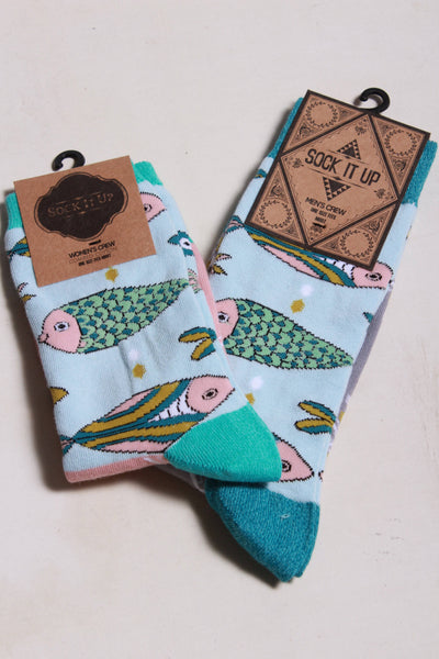 Oooh Yeah Socks School of Fish Socks 9206C - Inspire Me