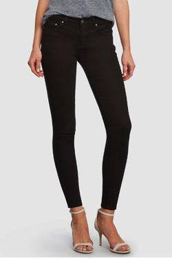 skinny mid-rise fitting jean by Principle Denim in a super dark black wash