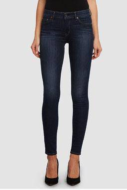 skinny mid-rise fitting jean by Principle Denim in a dark clean wash with a touch of vintage fade