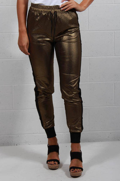Soaked In Luxury Sarah Pants Gold 30403244 - Inspire Me