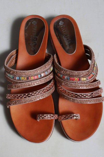 Pretty champagne pink mix sequins on multi strap sandals