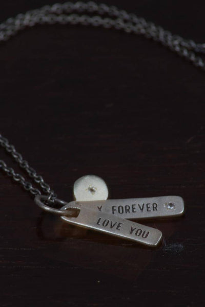 SugarBoo Designs Love You Forever Tag Style Necklace SJ105 - Inspire Me