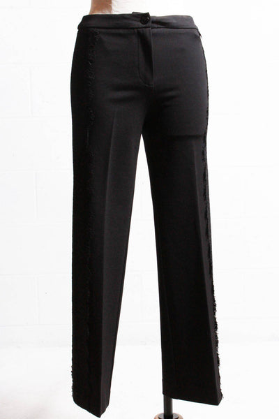 Twinset Lace Sided Trousers Black 192TT2210 - Inspire Me