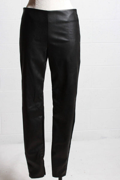 Velvet Faux Leather Pants Black BERDINE03 - Inspire Me