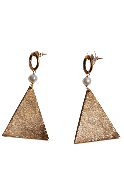 Yochi Triangle Earrings Gold EP1811 - Inspire Me