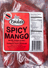 Load image into Gallery viewer, paulas snacks, paulas trinidad, red mango, preserve mango, west indian, trinidad, trinidad snacks, snacks, trini, paulas spicy plums, paula spicy plums, preserve plums, spicy mango