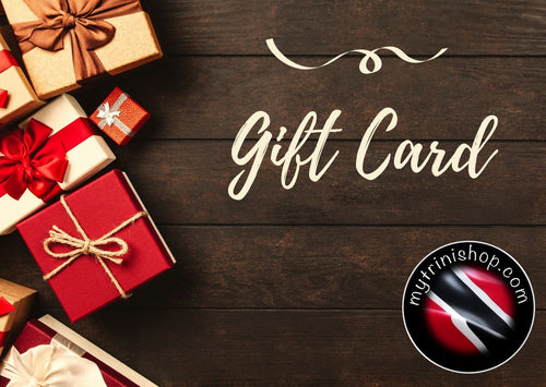 gift card, trini gifts, all things trini, trinis in london, trinis all over the world, trinidad gifts, all things trinidad, trinidad and tobago, tobago, gift cards