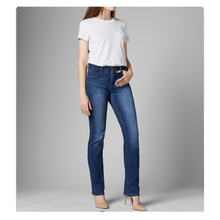 Load image into Gallery viewer, Jag Jeans - Ruby - Mid Rise - Straight Leg Ankle color Brilliant Blue