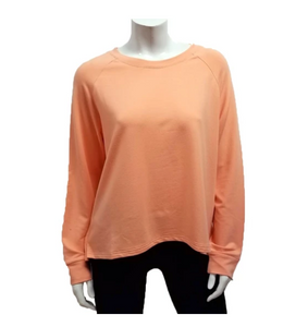 Gilmour 1021 - Bamboo French Terry Cropped Sweatshirt - color Salmon