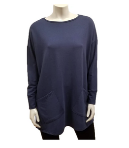 Gilmour 1062 - Bamboo French Terry Two Pocket Tunic - color Navy