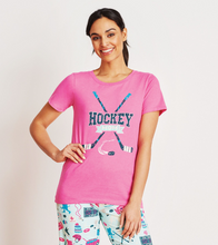 Load image into Gallery viewer, Little Blue House - Hockey Mom pyjama tee