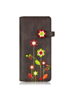 Load image into Gallery viewer, Gardenia - Long Wallet - color Brown
