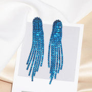 Colorful Rhinestone Drop Earrings - gonatag