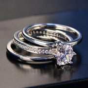 Silver Engagement Ring Set - gonatag