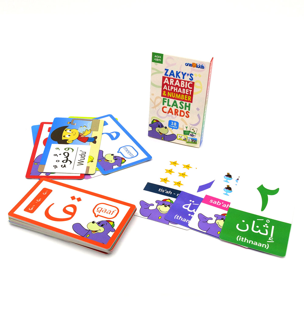 Zaky's Arabic Alphabet & Number Flash Cards