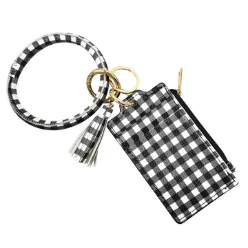 Buffalo Check ID Card Wristlet