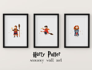 Set of 3 Harry Potter Nursery Decor