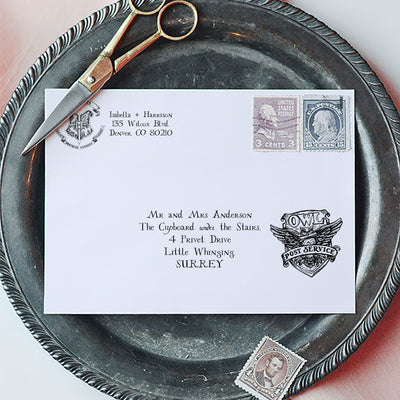 harry potter envelope
