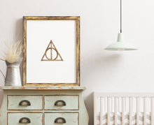 Load image into Gallery viewer, Harry Potter Deathly Hallows Poster Printable
