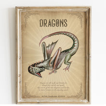 Load image into Gallery viewer, dragon vintage poster