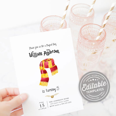 gryffindor invitation