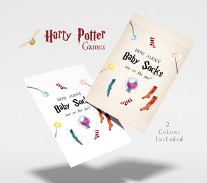 How Many Baby Socks | Harry Potter Game Printable