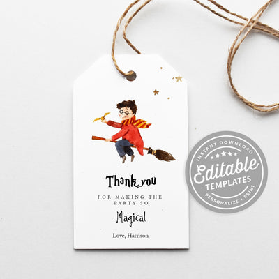 Harry Potter Favor Tags template