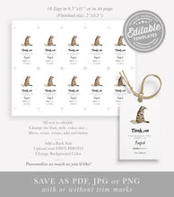 Load image into Gallery viewer, sorting hat printable favor tags