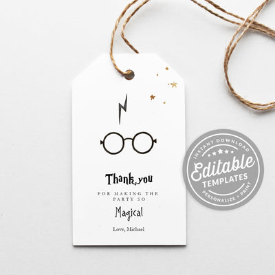 harry potter gift tags