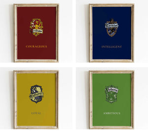 hogwarts houses signs