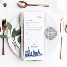 Load image into Gallery viewer, harry potter wedding menu
