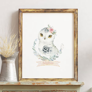 Hedwig Girl Nursery Wall Art | Harry Potter Printable