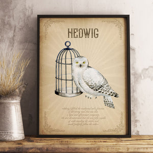 Hedwig Poster | Harry Potter Owl Poster Digital